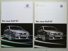 PROSPEKT VOLKSWAGEN VW GOLF V GT, 2.2006, 16 PAGINE + LISTINO PREZZI 1.2006