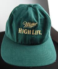 VINTAGE MILLER HIGH LIFE BEER HAT SPORTSMAN BRAND VEL TRUCKER STYLE 20YO