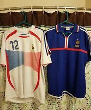 2 F.F.F. FRANCE National Team World Cup Jerseys. Vintage Rare HENRY