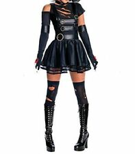 Latex (Faux)  Look Dress Goth Punk Flared Skirt Ripped Style