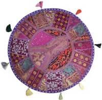 Indian Floor Cushion Round Cover Patchwork Pillow Pouf Meditation Boho Decor
