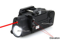 New Tactical Flashlight Dual Beam Aiming Laser Pistol Light ( BK ) For Airsoft