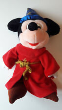 Disneyland Paris Mickey Mouse 39cm Fantasia Sorcerer Wizard Plush Stuffed Animal