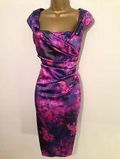 STUNNING COAST ALVA FLORAL SATIN  WIGGLE DRESS SIZE 12 £150