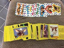 COMPLETE SET OF VINTAGE 1984 TOPPS GREMLINS SERIES 1  82 CARDS 11 STICKERS