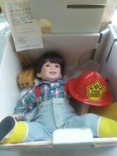 David by Elke Hutchens The Danbury Mint Porcelain Fire Chief doll free ship man