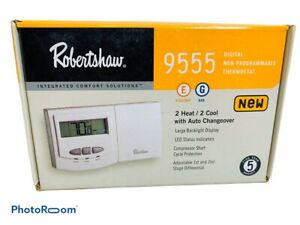 🔥Robertshaw 9555 24-Volt AC 2 Heat / 2 Cool Deluxe Thermostat • New