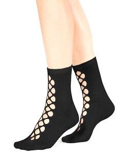Free People | Bonjour Cutout Ankle Socks | Black | OSFA