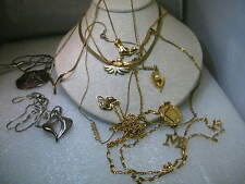 Vintage  Lot  Necklace/Chokers, 1970-80's, Silver & Gold Tone,
