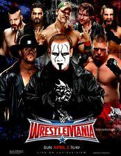 Wrestlemania 32 2016 Wrestling Poster A4 8x11 WWF Sting Undertaker Brock Lesnar
