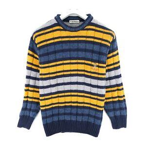 Cosby Vintage Retro 90s Burlington Coloured Sweater Jumper Size UK/US 42 EU 52