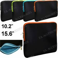 """15.6"""", 10.1"""" Laptop Neoprene Zip Sleeve Pouch Bag Carry Case Cover For Notebooks"""