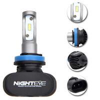 NIGHTEYE H11 6500K LED Ampoule Anti-brouillard Feu Lampe Moto Driving Blanche PB