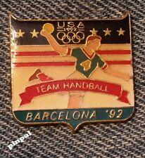Handball Olympic Pin ~ 1992 Barcelona Summer Games ~ USA Team~Fundraising