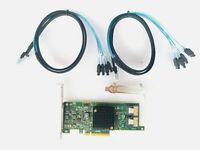 LSI 9217-8i 6Gbs SAS HBA P20 IT Mode For ZFS FreeNAS unRAID +2* 8087 SATA Cable