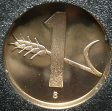 Switzerland 1986 Rappen Rare Proof~Only 10,000 Minted~Oat Sprig~Cross~Free Ship