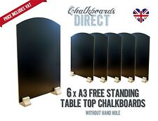 A3 chalk board/handheld table top pub menu black board pk of 6 (A3-NH)