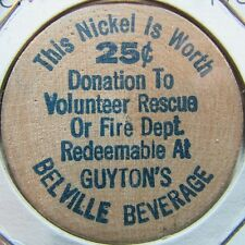 Vintage Guyton's Beverage Belville, NC Wooden Nickel Token - North Carolina