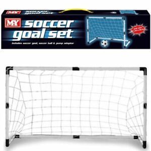 Kids Football Soccer Garden Goal Post Set Net Indoor Outdoor Sport Pump Ball Toy