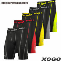 XOGO New Mens Compression Shorts Base Layer Briefs Pants Running Gym Fitness
