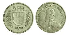 pci1409) Svizzera  Switzerland  Helvetia - 5 Franchi Francs 1932 B not cleaned