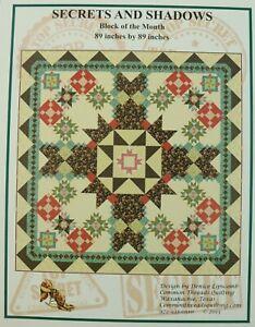 Secrets & Shadows 12 block BOM Quilt Pattern Kit Common Threads Denice Lipscomb