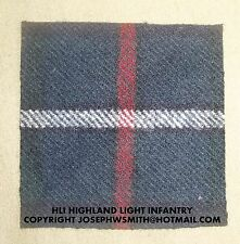 WW2 British Army,HLI Highland Light Infantry, tartan patches battledress,badges