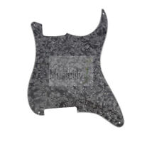 Pearl Black 4Ply PVC Blank Outline Pickguard Plate For Fender Strat ST Guitar