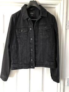 BURTON MENSWEAR Black Denim Jacket Size medium M (never Worn)