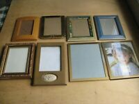 Lot of (8)Picture Photos Frames Decorative Gold Plated Metal&Wood Frames