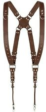 Dual Harness SLR/DSLR Camera Strap Genius Leather Adjustable Brown