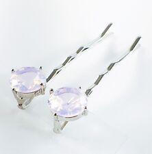 USA Bobby Pin Hair Clip use Swarovski Crystal Hairpin Elegant Jelly Pink Y06
