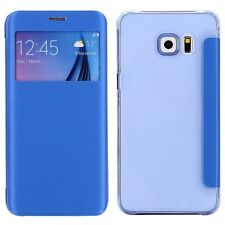 Smartcover Window Azul claro para Samsung Galaxy S6 Edge Plus G928 f Funda