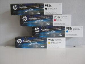 Original HP 981 A/Y Set für PageWide Enterprise Color 550 580 Series Neu & OVP