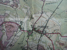 Landkarte Berlin Blatt 10 Zossen ca 1914 vierfarben Landesaufnahme Rangsdorf