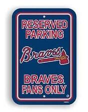 "MLB Baseball Atlanta BRAVES 12"" x 18"" Reserved Parking Sign by Fremont"