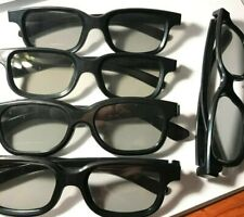 Lot of 5 Black 3D Glasses. Used but Good Condition