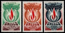 ✔️ FRANCE 1975 - UNESCO HUMAN RIGHTS FLAME - SC.2O13/2O15 MNH OG [FROU.13/15]