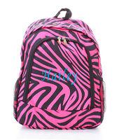 Personalized ZEBRA Black Pink LARGE School Bag Backpack Monogram Embroidery Name