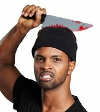 Halloween Bloody Horror Zombie Fancy Dress Accessory Hat With Bloody Knife Hall