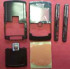 NUOVO ORIGINALE Originale Blackberry 8800 Completo Nero Alloggiamento Fascia copertura PANNELLI LATERALI
