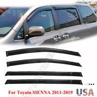 4PCS For Toyota SIENNA 2011-2019 Window Visor Sun Rain Guard Deflector Vent US