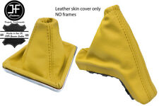 YELLOW TOP GRAIN REAL LEATHER GAITER SET FOR VAUXHALL OPEL ASTRA MK5 H 2004-2009