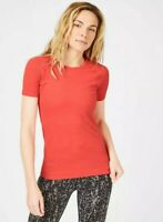 Sweaty Betty Athlete Seamless Workout T-shirt  Size S Tulip Red