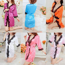 Women-Sexy-Lingerie-Lace-Lady-Dress-Underwear-Robes-Babydoll-G-string-Sleepwear