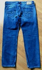 DIESEL LARKEE MENS BLUE JEANS SIZE 38 X 32 - BUTTON FLY