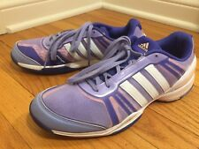 Athletic Sneakers ADIDAS Women 10M Purple Pink White AdiTuff Lace Up