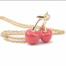 Kate Spade Magnolia Bakery Cherries Necklace w/ KS Dust Bag