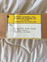 1983 Hall Of Fame Baseball Bat Given To Sandy Koufax By The Hall Of Fame