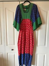 New listing Vintage Young Innocent Edwardian By Arpeja, Boho Hippie Maxi Dress, Mixed Floral